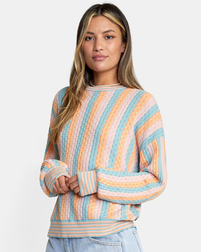 4 Space Case Sweater Grey AVJSW00116 RVCA