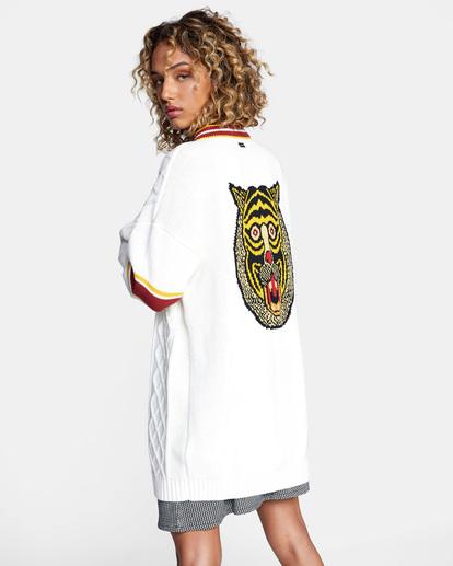 6 Matt Leines   Uprise Cardigan Sweater White AVJSW00121 RVCA