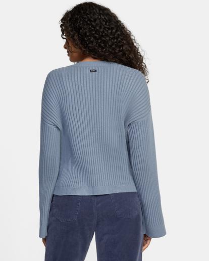 1 Charmed Cardigan Sweater Blue AVJSW00122 RVCA