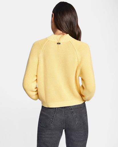 1 New Wave Knit Sweater White AVJSW00123 RVCA