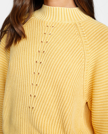 2 New Wave Knit Sweater White AVJSW00123 RVCA