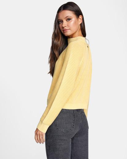 5 New Wave Knit Sweater White AVJSW00123 RVCA