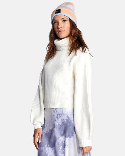 6 Citizen Turtleneck Sweater White AVJSW00124 RVCA