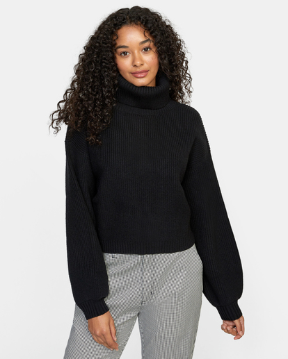 0 Citizen Turtleneck Sweater White AVJSW00124 RVCA