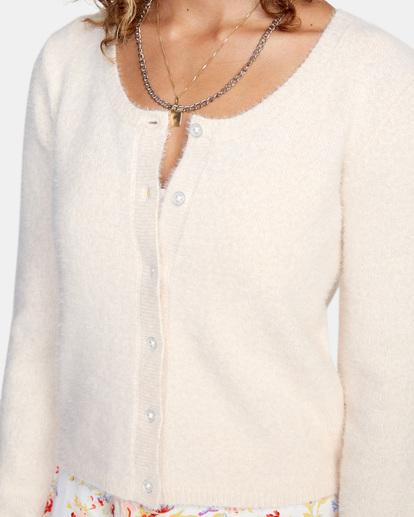 2 Clueless Cardigan Sweater Grey AVJSW00125 RVCA