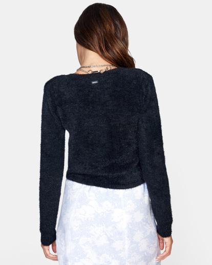 1 Clueless Cardigan Sweater White AVJSW00125 RVCA