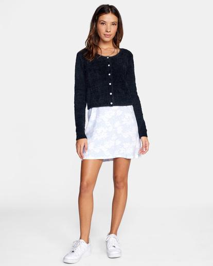 3 Clueless Cardigan Sweater White AVJSW00125 RVCA