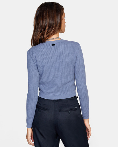 1 Maybe Later Knit Sweater Blue AVJSW00126 RVCA