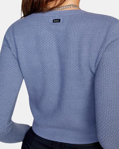 6 Maybe Later Knit Sweater Blue AVJSW00126 RVCA