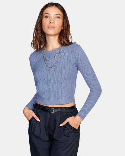 0 Maybe Later Knit Sweater Blue AVJSW00126 RVCA
