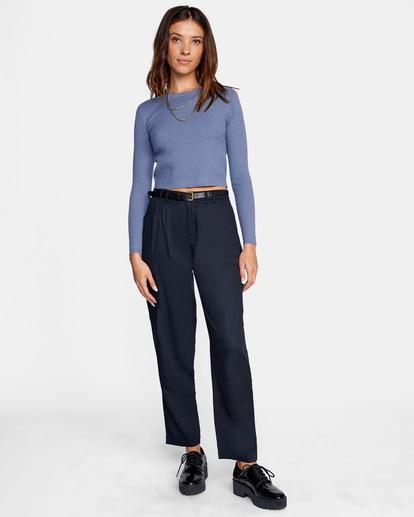 3 Maybe Later Knit Sweater Blue AVJSW00126 RVCA
