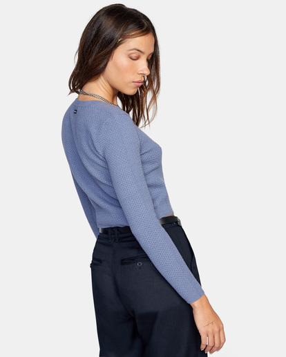 4 Maybe Later Knit Sweater Blue AVJSW00126 RVCA