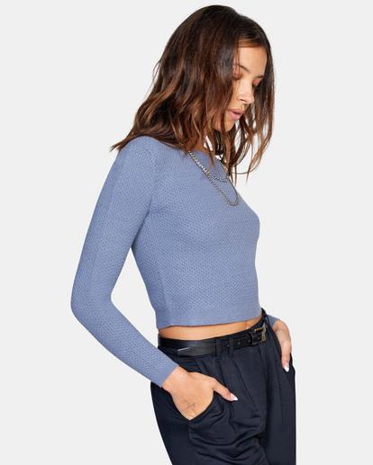 5 Maybe Later Knit Sweater Blue AVJSW00126 RVCA