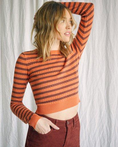 2 Camille Rowe   Paris Pointelle Sweater Orange AVJSW00128 RVCA
