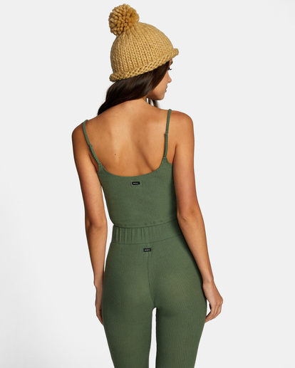 1 With Love Tank Top Green AVJTO00122 RVCA