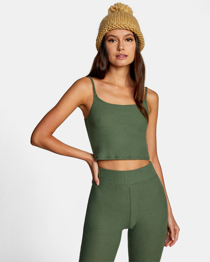 0 With Love Tank Top Green AVJTO00122 RVCA