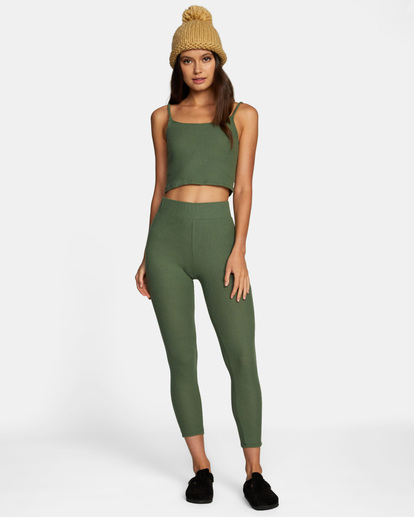 3 With Love Tank Top Green AVJTO00122 RVCA