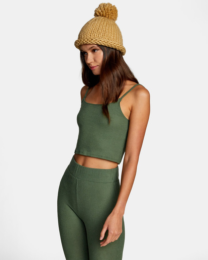 4 With Love Tank Top Green AVJTO00122 RVCA