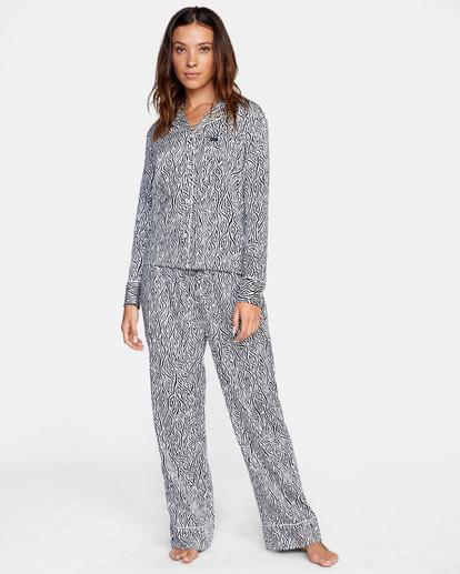 3 Matt Leines   Long Sleeve Pajama Set White AVJTO00125 RVCA