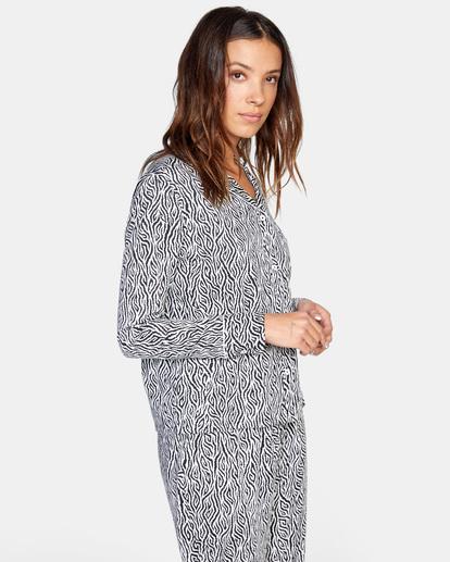 4 Matt Leines   Long Sleeve Pajama Set White AVJTO00125 RVCA