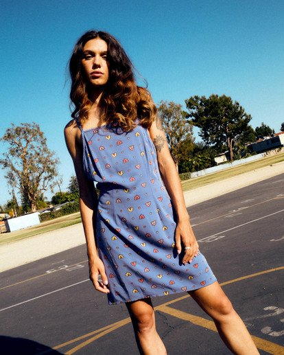0 Timeout Dress Blue AVJWD00156 RVCA