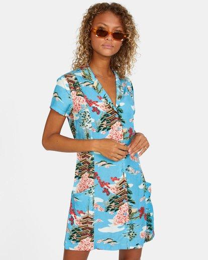 7 Island Time Dress Brown AVJWD00157 RVCA