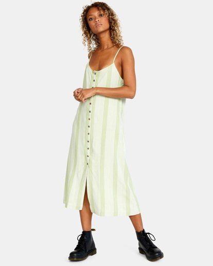 3 Shadow Dress Green AVJWD00163 RVCA