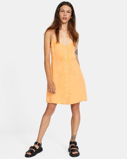2 Out There Dress Orange AVJWD00168 RVCA