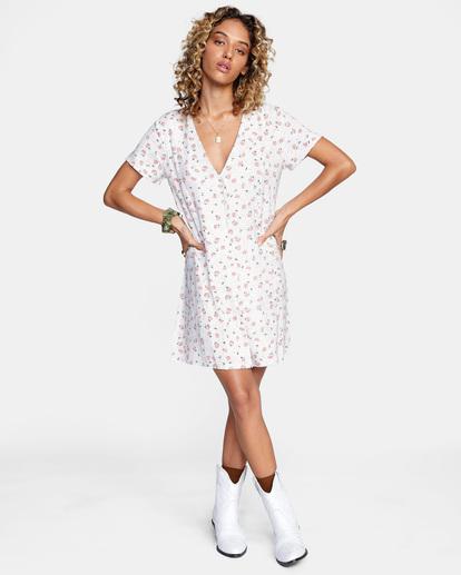 3 Once More Mini Dress White AVJWD00174 RVCA
