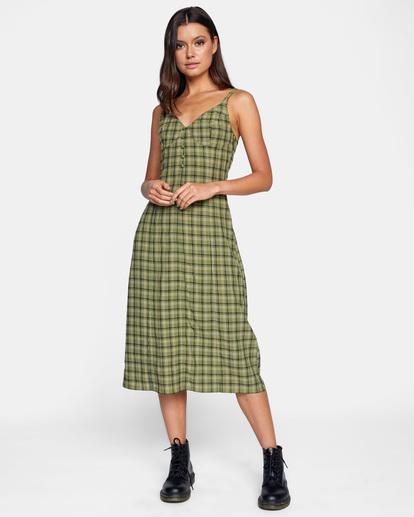 0 Uptown Tank Dress Green AVJWD00175 RVCA