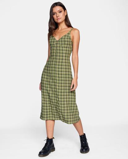 3 Uptown Tank Dress Green AVJWD00175 RVCA