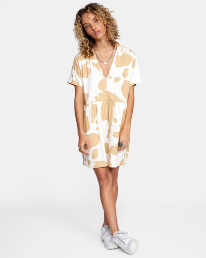 3 Southbound Mini Dress Beige AVJWD00177 RVCA