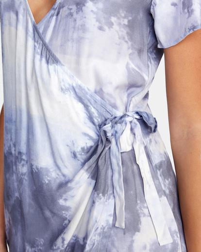 2 Skyline Wrap Dress White AVJWD00180 RVCA