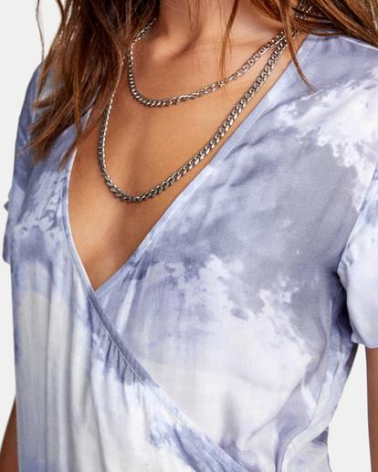 6 Skyline Wrap Dress White AVJWD00180 RVCA