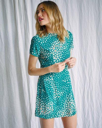 6 Camille Rowe   Lido Mini Dress Green AVJWD00186 RVCA