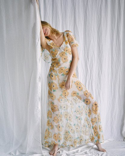 9 Camille Rowe   Lolo Maxi Dress Grey AVJWD00187 RVCA