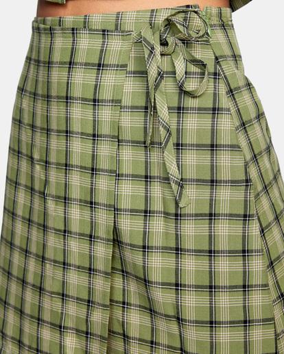 3 Going Out Mini Skirt Green AVJWK00104 RVCA