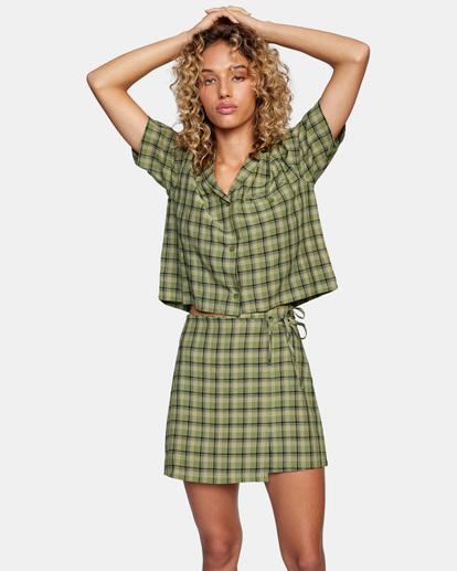 1 Going Out Mini Skirt Green AVJWK00104 RVCA