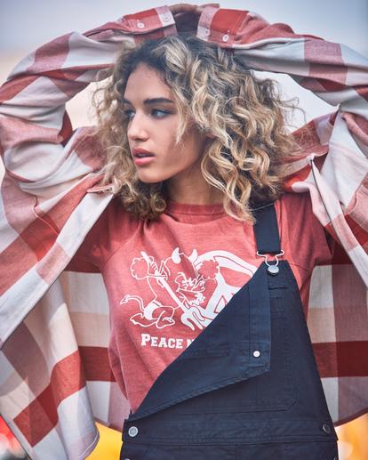 0 Decades Zip-Up Flannel Shirt Brown AVJWT00138 RVCA