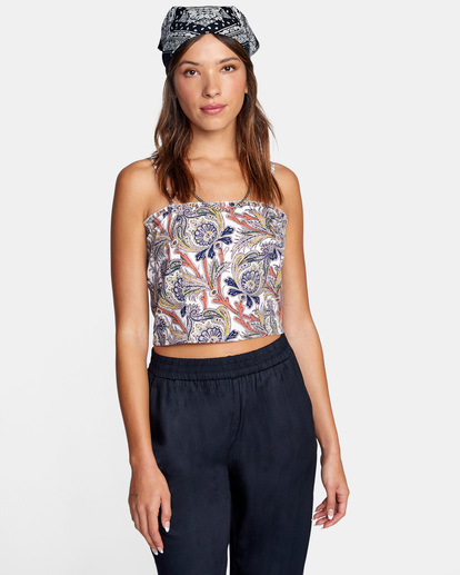 0 Side Note Cami Top White AVJWT00142 RVCA