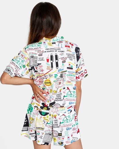 1 Espo Vacay Short Sleeve Shirt White AVJWT00147 RVCA