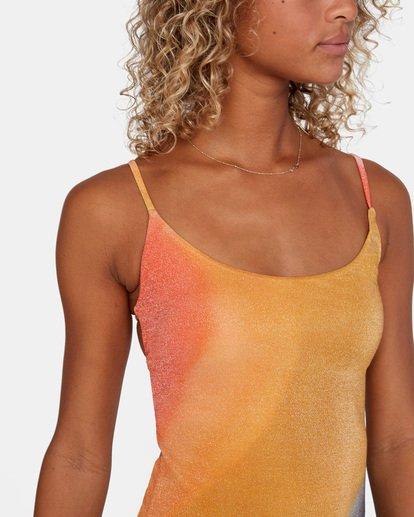 5 Dana Trippe | Trippy Dana Printed Cheeky Tie Back One Piece Swimsuit Grey AVJX100112 RVCA