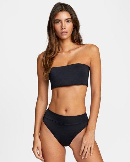 0 Solid Bandeau Removable Strap Bikini Top Black AVJX300127 RVCA