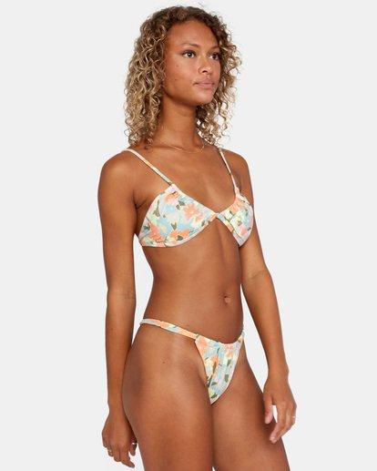 4 On The Road Printed Multi-Way Trilette Bikini Top Brown AVJX300164 RVCA