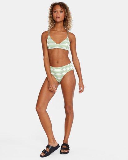 3 Ziggy Crossback Bikini Top White AVJX300179 RVCA