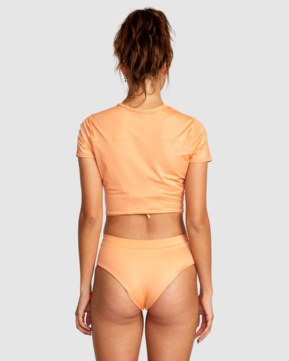 1 Wilder Cropped Swim Tee Orange AVJX300184 RVCA