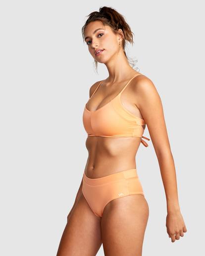 2 Wilder Solid Crossback Tie Bikini Top Orange AVJX300185 RVCA