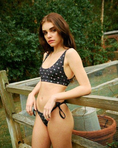 1 Foulard Printed Slider Strap Bralette Bikini Top White AVJX300191 RVCA