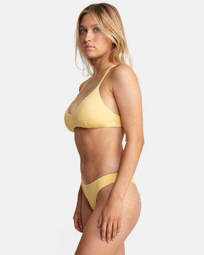 3 Solid Crossback Tie D-Cup Bikini Top White AVJX300198 RVCA