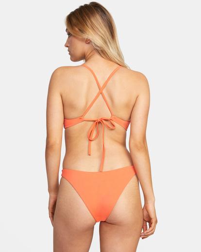 2 Solid Cross back Tie D-Cup Bikini Top  AVJX300198 RVCA